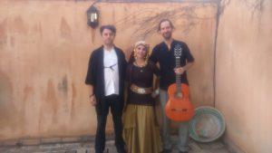 Kamal Al-Nawawi, Aida de la Fuente y Pepe Agudo. Un lujo cerrar con ellos el evento poético musical. son, sencillamente, maravillosos.